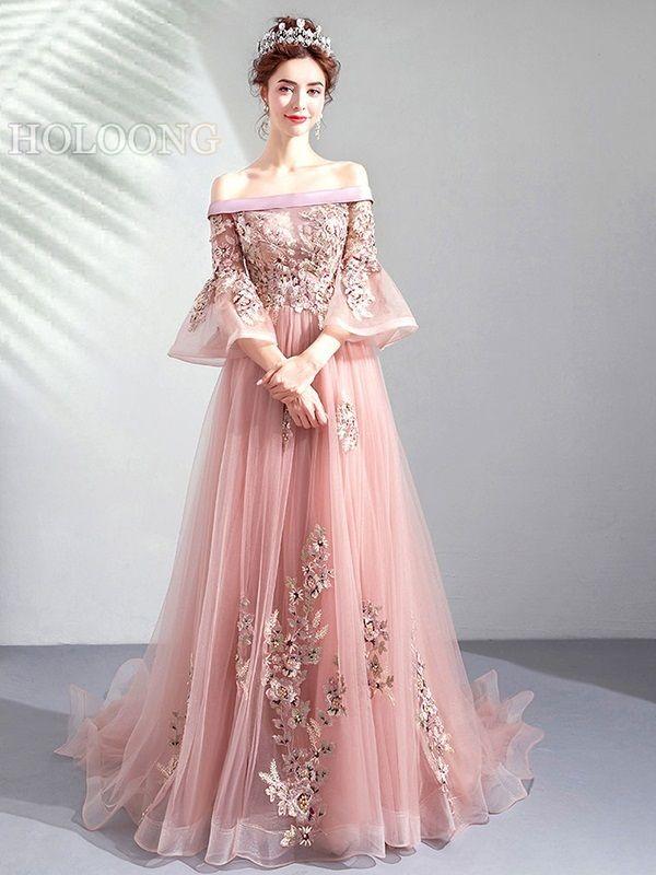 93e0d7a15023 Winter Pink Toast formal dress Floor-Length Evening Dresses in 2019 ...