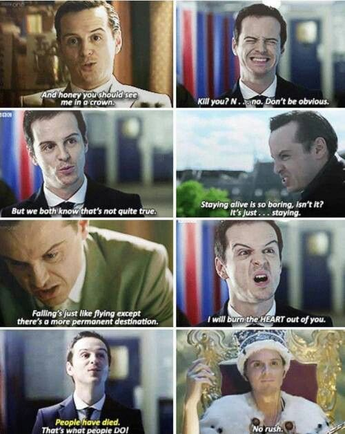 Thank goodness (or evilness???) Andrew Scott is back with his character Moriarty...