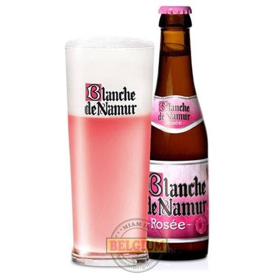Blanche de Namur Rosée au jus de framboises.