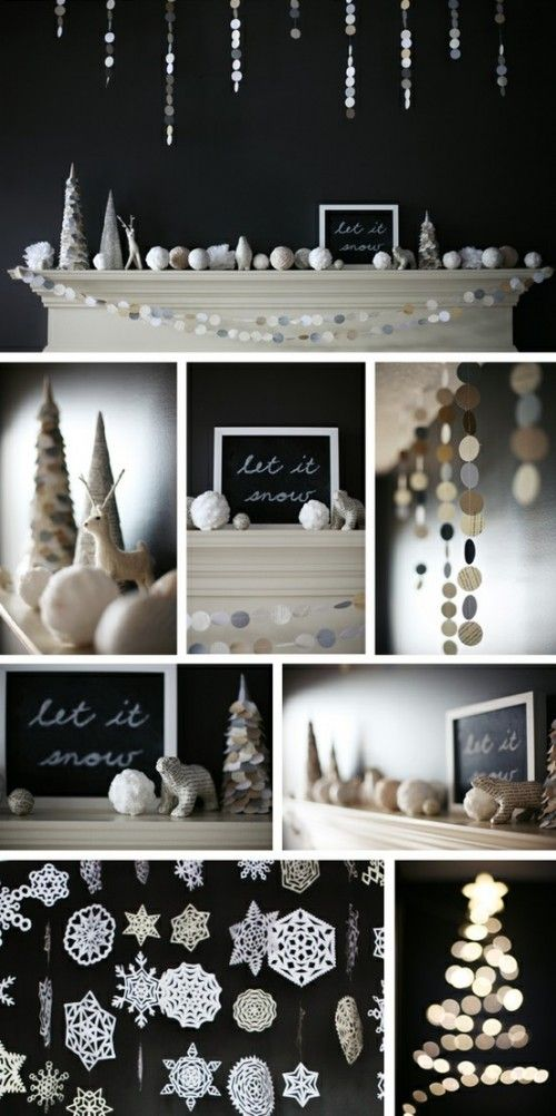 34 Awesome Winter Garlands For Creating An Atmosphere | Shelterness - liked the let it snow elegant colors but I would add in some gold & pearl accents:
