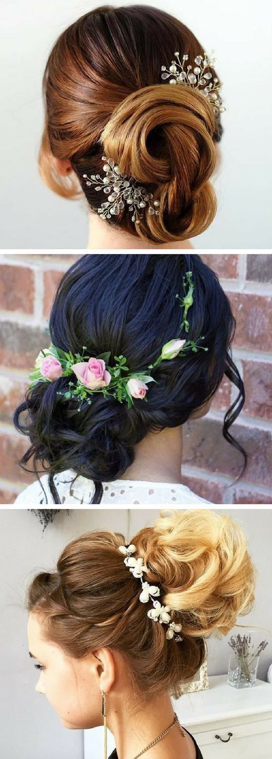 These wedding hair updo hairstyles are so gorgeous! Next event, I'm so going to copy these hairstyles. Definitely pinning for later!