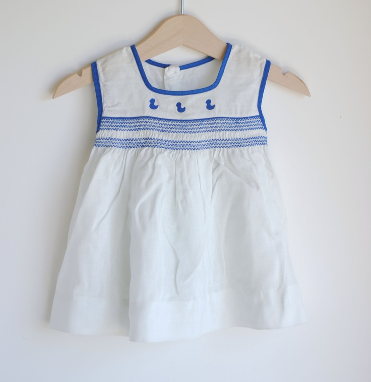 Blue dress for baby girl vintage
