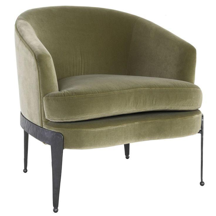 Classic home furniture aurelia accent chair olive