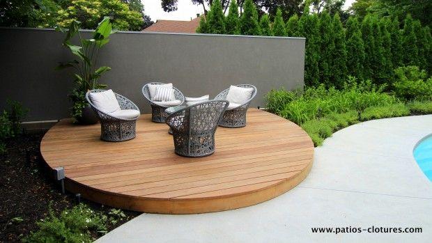 Terrasse ronde en bois ipé - PATIOS EN BOIS