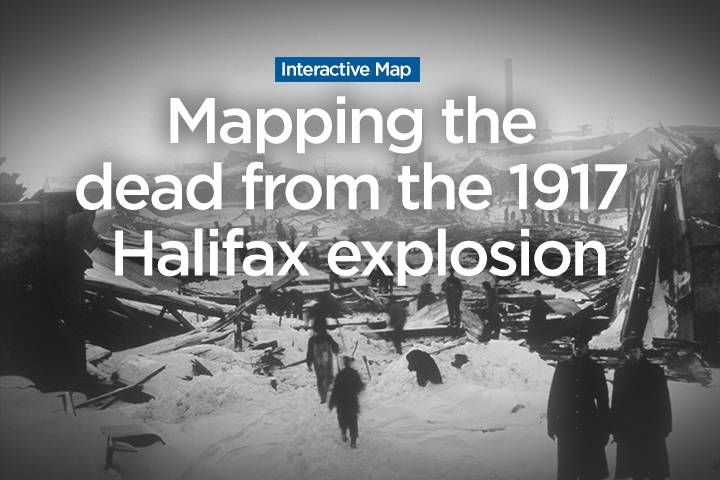 Almost 2,000 people died in the Halifax Explosion. We mapped about 1,400 of them to their homes in Halifax.