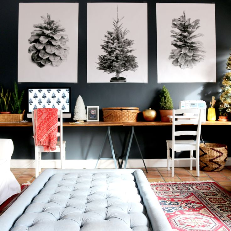 Delightful Free Home Decor Ideas Part - 12: Free Printable Large Format Art Print - Pinecones And Evergreen