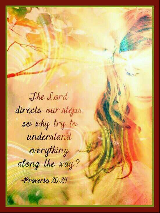 He directs our steps...