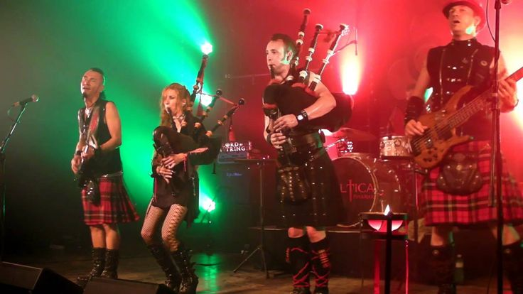 Celtica Pipes Rock Scottish Raggae The Lion sleeps tonight Highland Game...