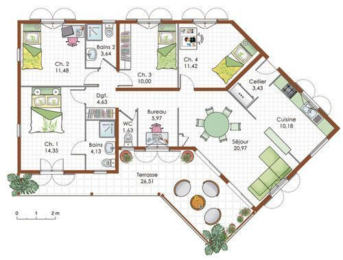 Super 86 best Plan de maison sur 150m2 de terrain images on Pinterest  WZ82