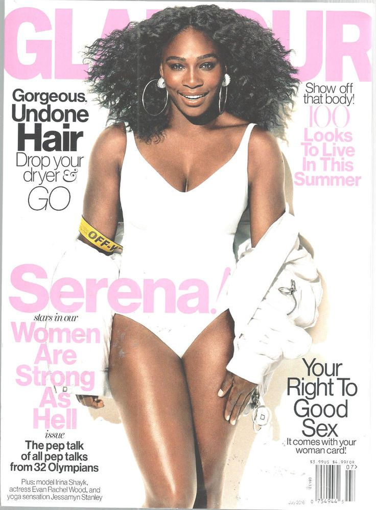 Serena Williams Glamour Magazine July 2016 Olympians Pep Talk Undone Hair #CondeNast