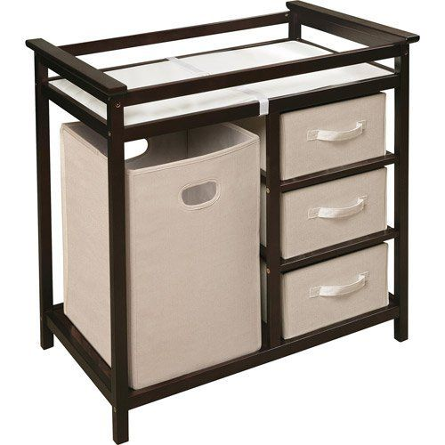 Badger Basket Modern Changing Table with 3 Basket