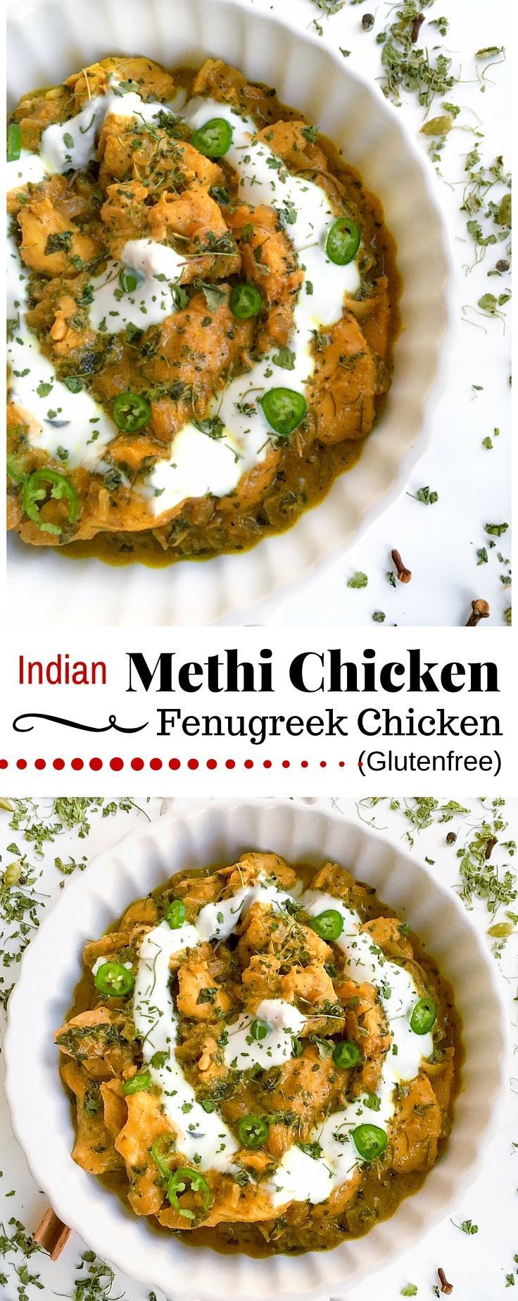 Indian Methi Chicken / Murg Methi / Fenugreek Chicken : #methi #chicken #glutenfree #recipe #curry