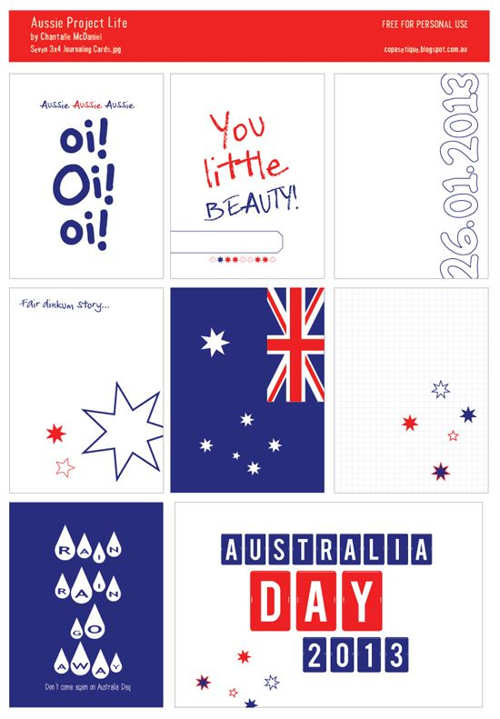 The Anticlockwise Fish: Aussie Project Life cards