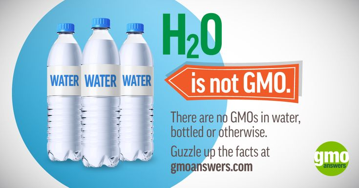 There are no GMOs in water bottled or otherwise. Get the facts at GMOAnswers.com
