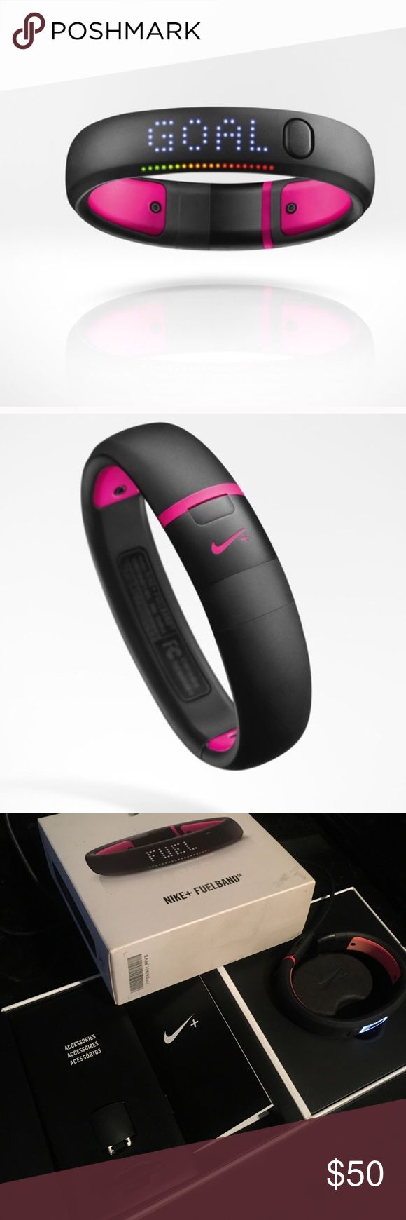 💥 Nike+FUELBAND- Magenta! 💥 Used Pink Nike Fuel Band. Some wear, but in great condition. Works with IPhone or Android. Counts your calories, steps, and helps you stay in shape! Nike Accessories