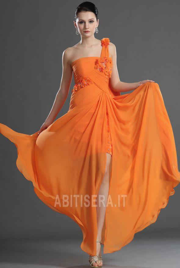 Abito da sera moda/Moderno Rosette Ornamento Spacco coscia-alto