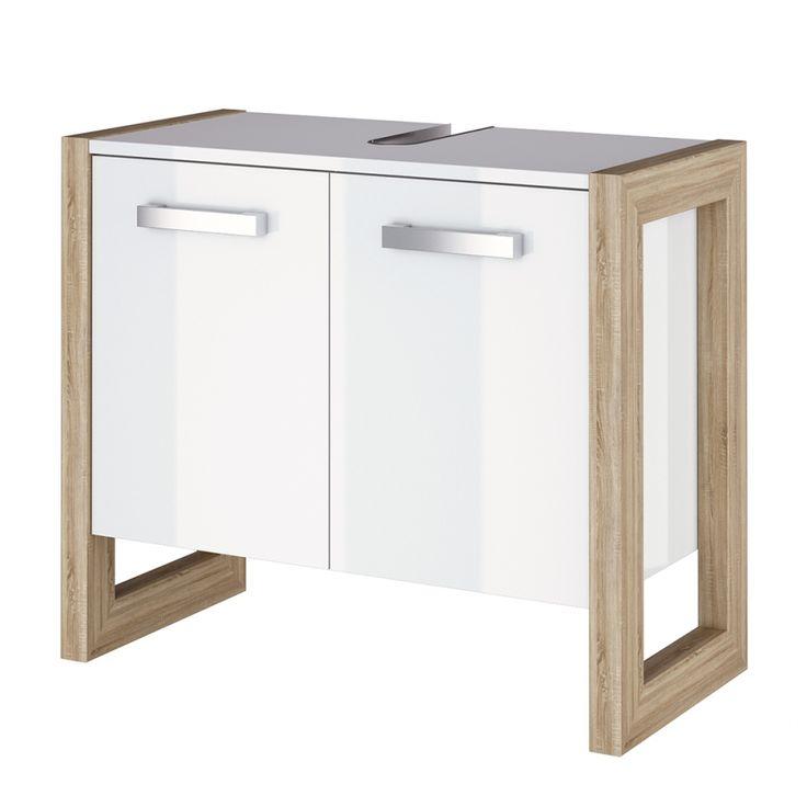 189.-Waschbeckenunterschrank Kolind - Hochglanz Weiß