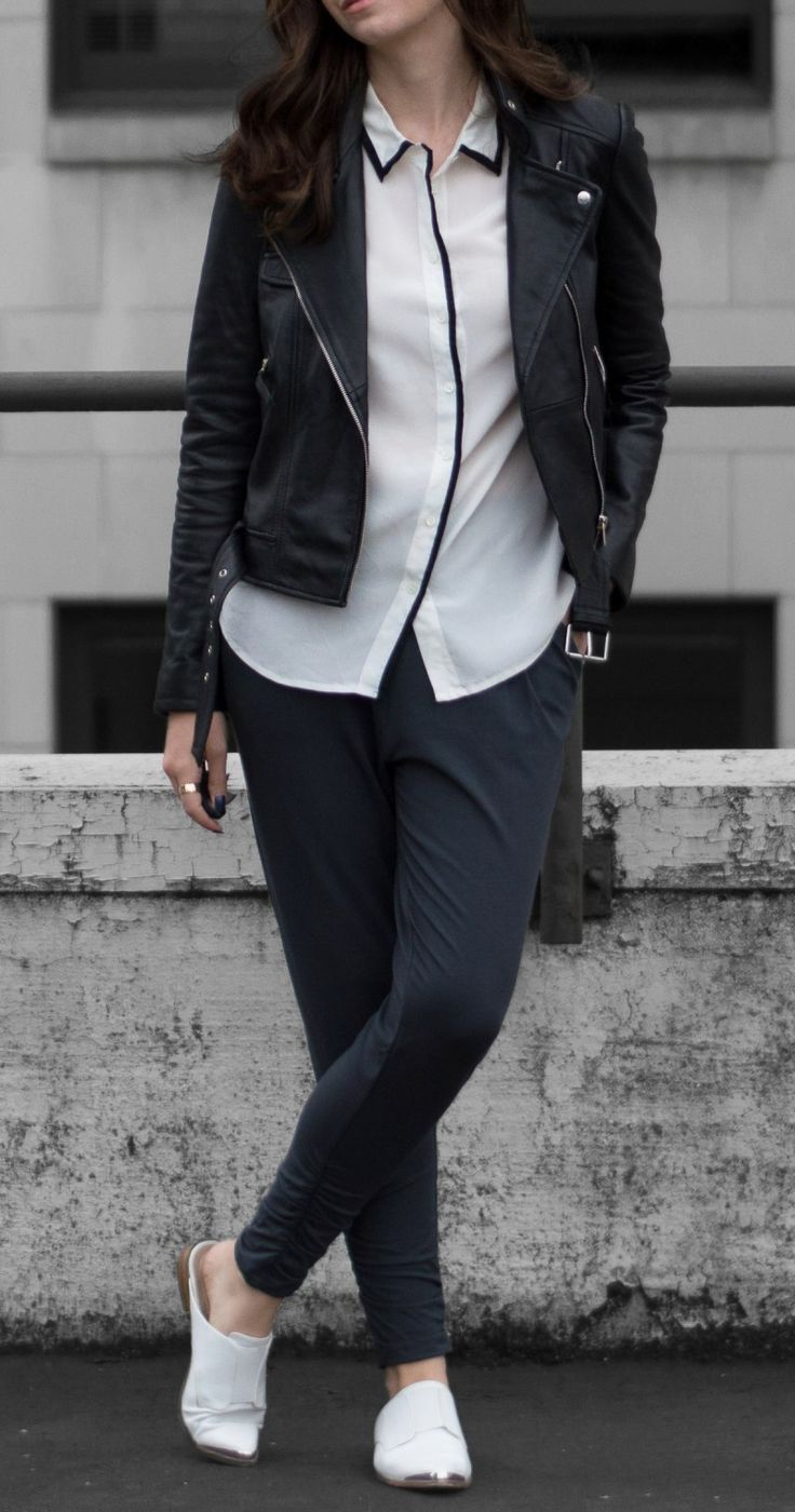 how to style dressy sweatpants via @classicingray