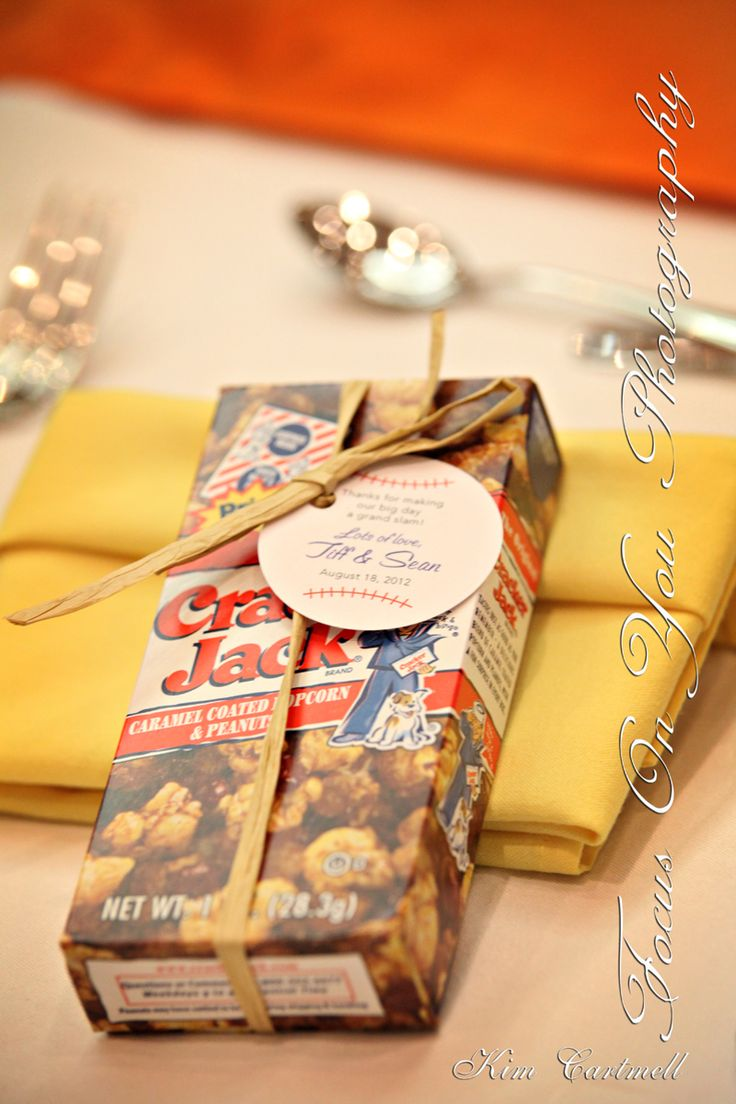 Wedding ideas - cool favours for baseball fans!!