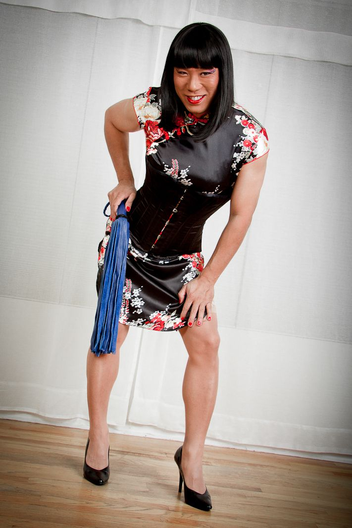 Incredibly hot Domination cross dresser man incredibly