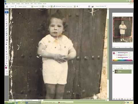 Como restaurar fotos antiguas en Photoshop...TUTORIAL EN ESPAÑOL!.....EXCELENTE!