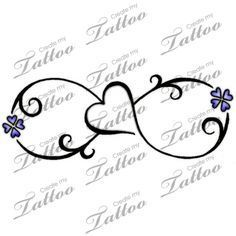 tattoo infinity small butterfly - Google zoeken                                                                                                                                                     More