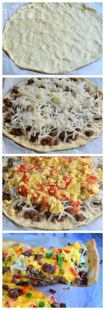 quick and easy Skinny Breakfast Pizza ~ crescent roll crust