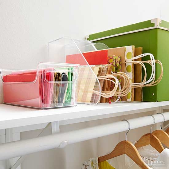 Easy Ways To Store Gift Wrapping Supplies