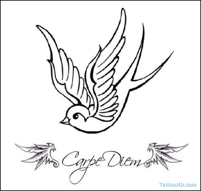 Sparrow Tattoo Design -- This looks like my existing tattoo and I kinda want the second to look similar to the first