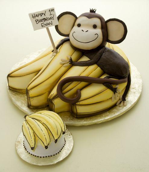 aap met bananen taart