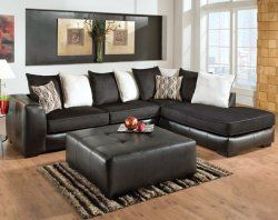 San Marino Ebony 2 PC Sectional Sofa | Living Rooms | American Freight  Furniture #AFPinspiredHome