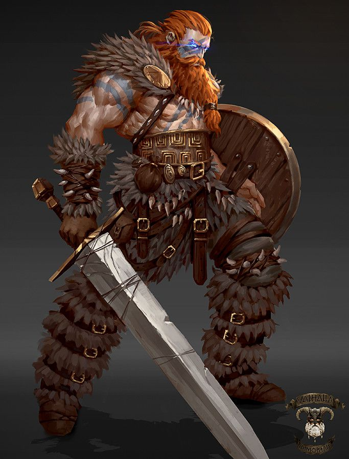 Viking concepts-Valhalla Immortals, George Stratulat on ArtStation at https://www.artstation.com/artwork/5bbkz