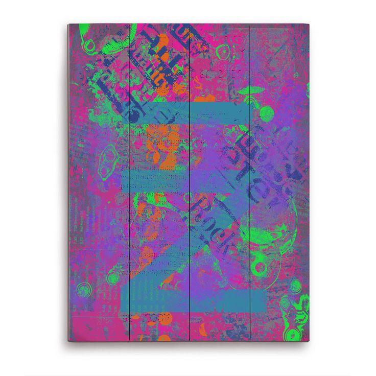 Horizon Joy of Childhood in Pink and Violet en Wall Art