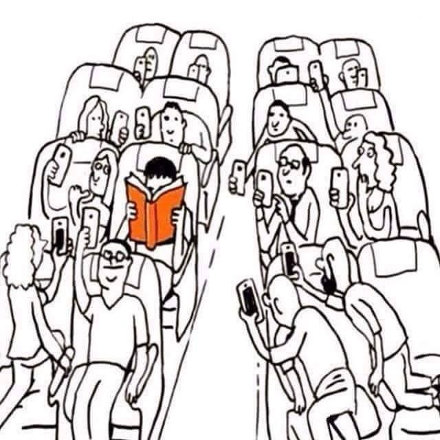 Reading a book on the train...