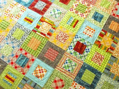 Fussy Cut: Elijah's quilt - square in square  -  I like! and so simple.... hmmm, the square could be plaid or the frame.....with coordinating solids or one single solid......