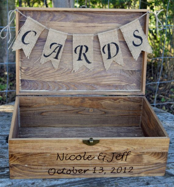 This is a beautiful and well built card box. Its the perfect addition to your wedding and an even better keepsake for your home to enjoy for