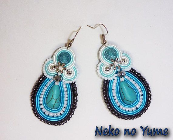 Soutache earrings  Winter