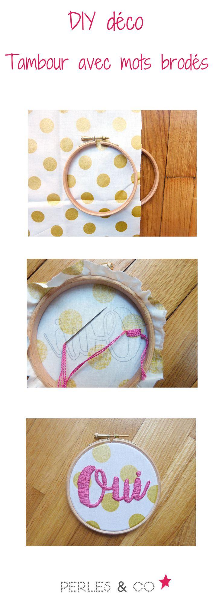 Un DIY spécial déco, original et inspirant, ça vous tente? Raphaëlle, du blog Une fille hibou nous propose d'utiliser des tambours à broder et du tissu pour y broder des mots motivants et inspirants. Ces tambours se transforment en tableaux à accrocher aux murs de votre atelier ... un objet déco idéal pour booster sa créativité!  Retrouvez le tutoriel sur le site de Perles & Co >> https://www.perlesandco.com/DIY_tambour_avec_mots_brodes_sur_tissu-s-2766-37.html