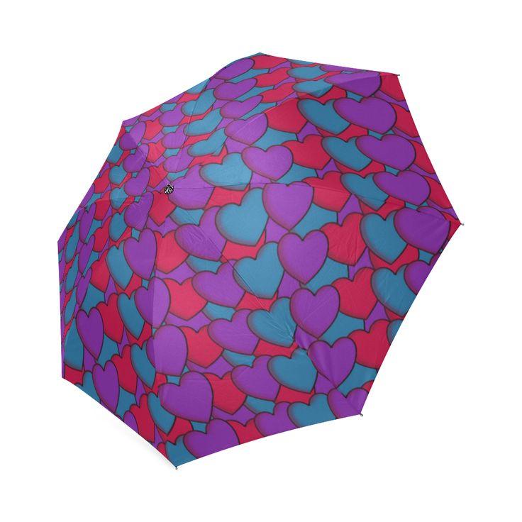 Love Hearts Foldable Umbrella