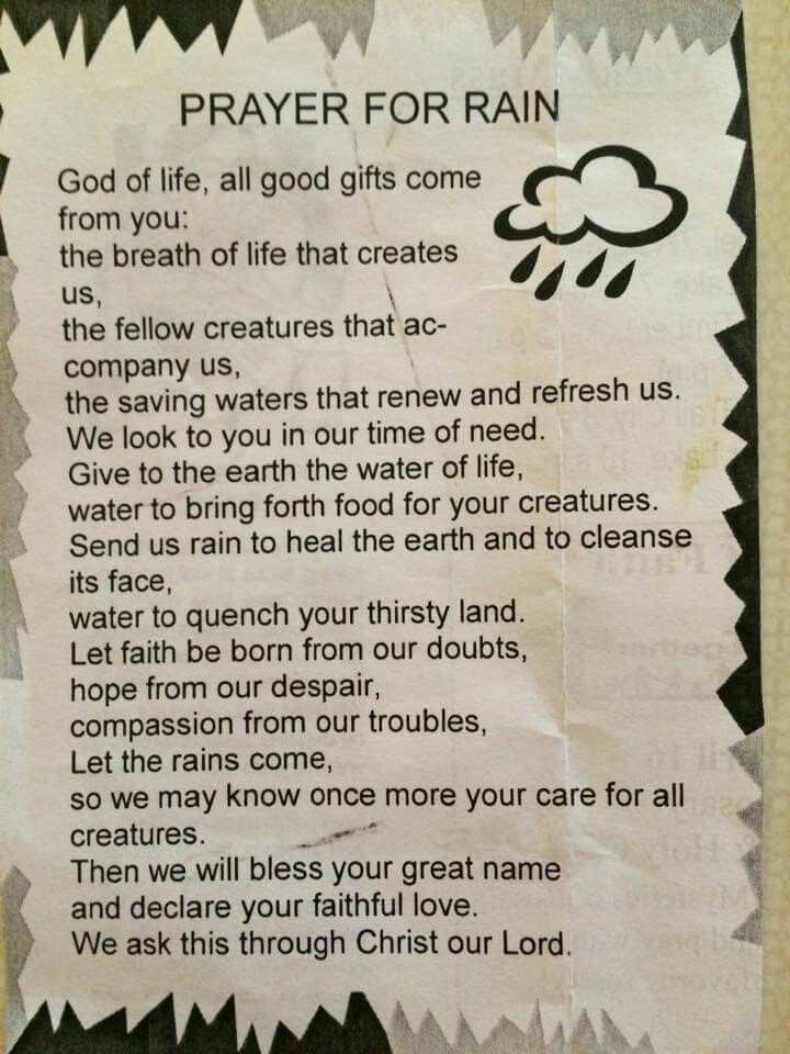 prayer for rain  u2026