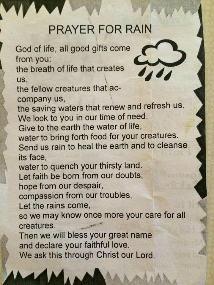 Prayer for rain                                                       …