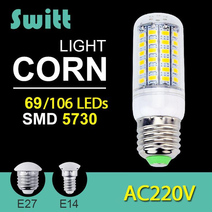 Alta Potência 220 v 240 v LED milho Lâmpada lâmpada Holofotes SMD 5730 lampada lamparas levou E27 E14 9 W 12 W 15 W 18 W 20 W Quente branco Frio