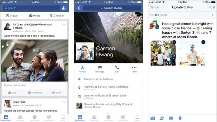 Facebook update a fost lansat in App Store | iDevice.ro
