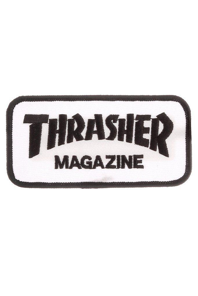 Thrasher Skate Mag Patch White Thrasher Parches Y Tiendas