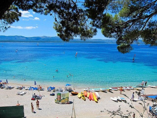 beach, island Brac, Croatia