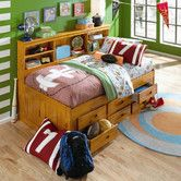 Whoa.  love this for the kids.  It's a bed, dresser, nightstand and kinda bookshelf all in one.  basically an entire, solid wood bedroom set.  Plus, it doesn't elongate the twin length which is the problem.  This would be dreamy in their small bedroom.