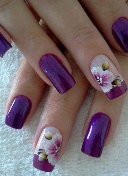 16 Fabulous Purple Nail Designs to Try - Best 25+ Fingernail Designs Ideas On Pinterest Finger Nails