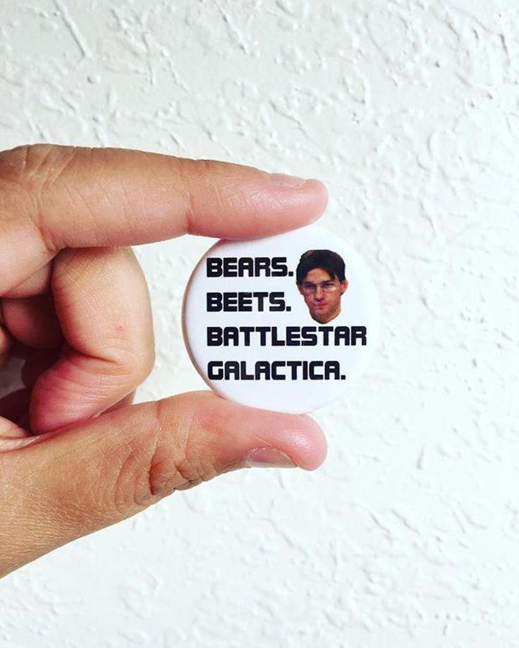 #Repost @dropkickqueen  Bears beets battlestar Galactica #theoffice #office #jimhalpert #dwightschrute #etsyseller #etsyshop #etsy #pins #buttons    (Posted by https://bbllowwnn.com/) Tap the photo for purchase info. Follow @bbllowwnn on Instagram for more great pins!