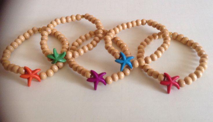 Pulseras elasticas con estrellas de mar