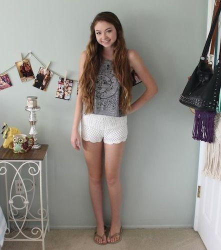 OOTD | Lace Shorts | Summer Outfit | Lace Shorts | Brandy Melville | Stilababe09 | Meredith Foster